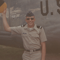 Rollie Anderson in his Air Force uniform